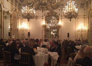 王宮横のPallavicini宮殿で行われた晩餐会の様子
